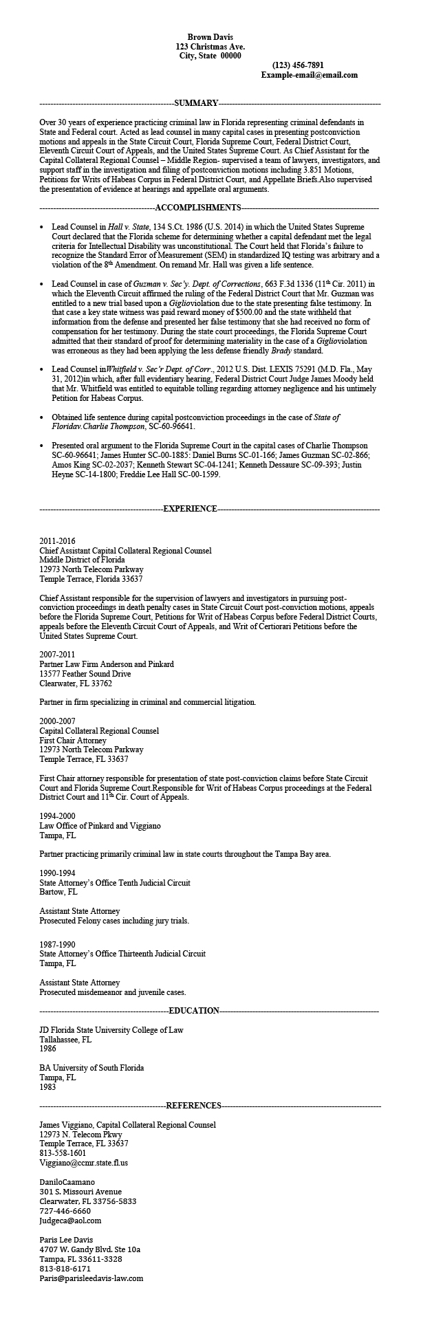 criminal law attorney resume samples templates tips attorneyresume com