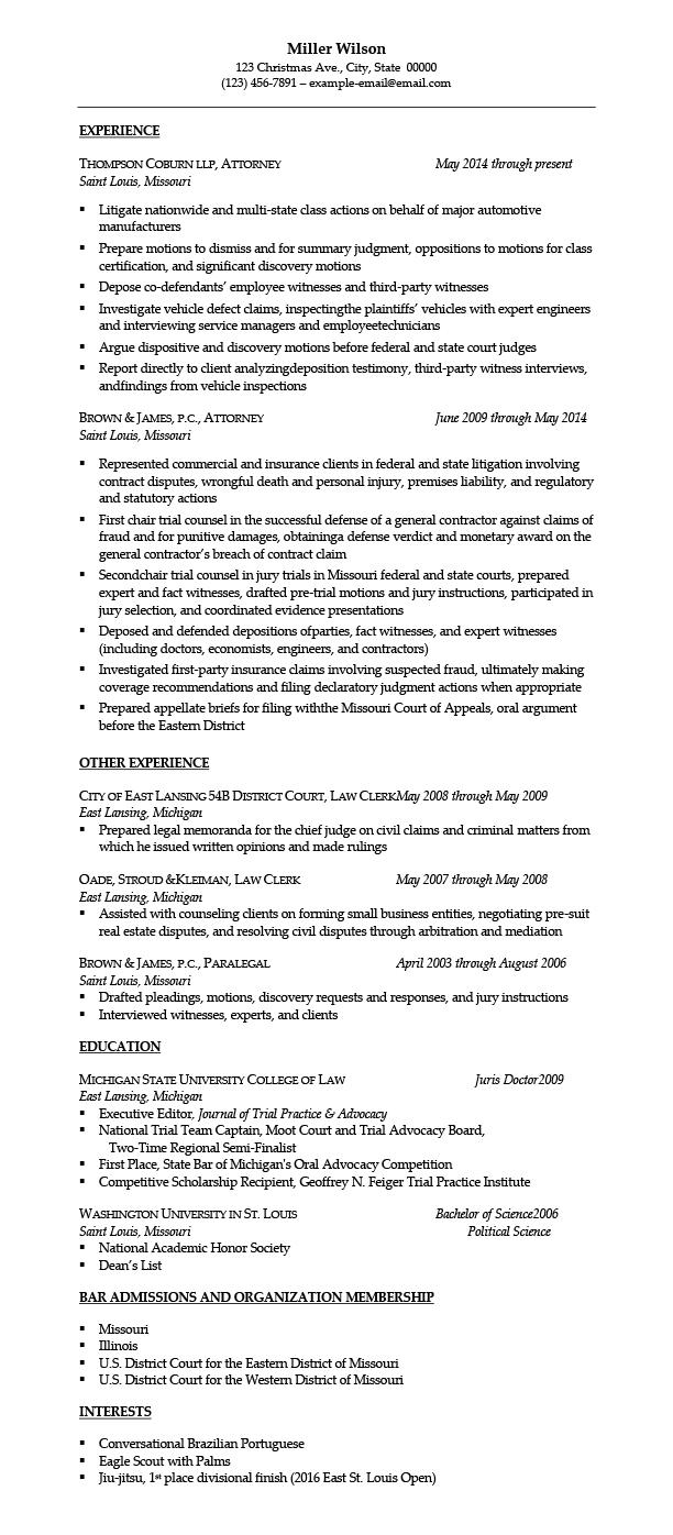 Employment Attorney Resume Samples Templates Tips | AttorneyResume.com
